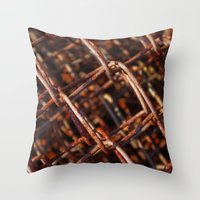 the wire Throw Pillows featuring wire by Seed Margarita