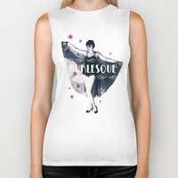 burlesque Biker Tanks featuring BURLESQUE by TOO MANY GRAPHIX