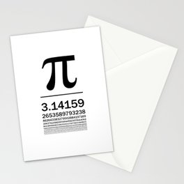 Pi Typography Art Stationery Cards