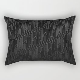Optical illusion - Impossible Figure - Balck & White Pattern Rectangular Pillow