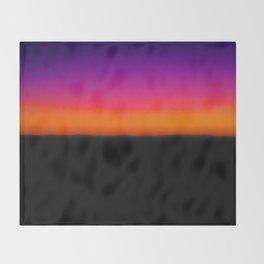 Horizon Line in Sunset Throw Blanket