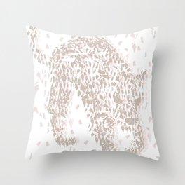 Broken Jaguar Throw Pillow