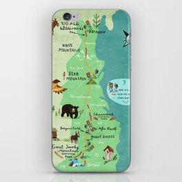 Appalachian Trail Hiking Map iPhone Skin