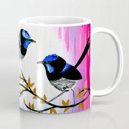 3 birds with pink and blue Coffee Mug