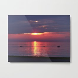 Holes in the Clouds, sunset on the water Metal Print