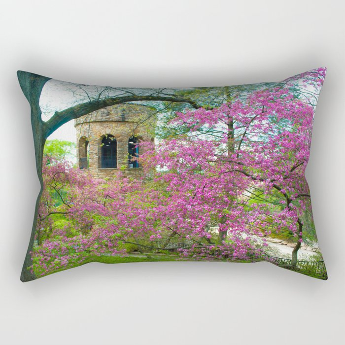 Bell Tower in Spring Rectangular Pillow