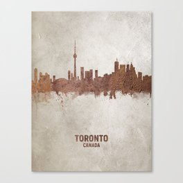 Toronto Canada Rust Skyline Canvas Print