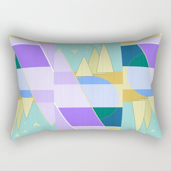 Abstraction in purple and blue colors .  Rectangular Pillow