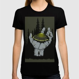 Ufo landed on hand , Dreams T-shirt