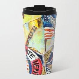 Beach Life Metal Travel Mug