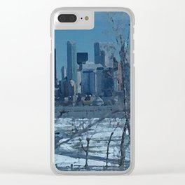 Peek a Boo Winter Bushes Clear iPhone Case
