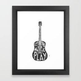 Let the music play Framed Art Print