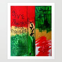 reggae Art Prints featuring reggae five by songs for seba