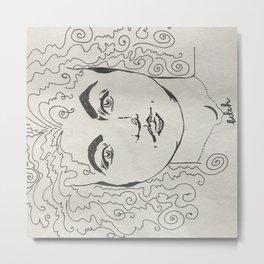 Modern lady Metal Print