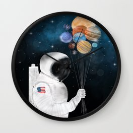 space party Wall Clock