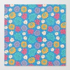 RocoFloral (blueberry) Canvas Print