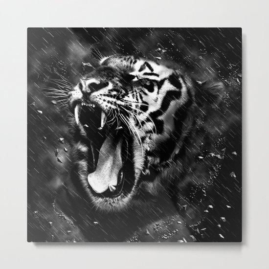 Tiger Head Wildlife Metal Print
