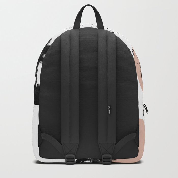 Black and White Palm Trees Backpack