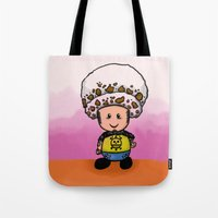 law Tote Bags featuring Toads Law by Dama Chan