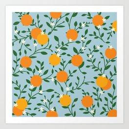 Valencia Oranges Art Print