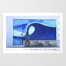 resting on the wave Art Print