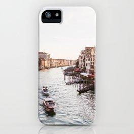 Venice Grand Canal views from Rialto Bridge iPhone Case