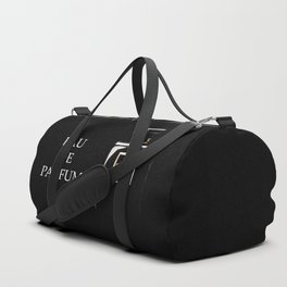 Black Parfum on black Duffle Bag