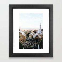 View from Park Güell Framed Art Print