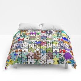 Jigsaw junkie Comforters
