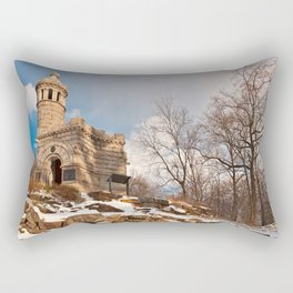Winter Gettysburg Castle Rectangular Pillow