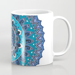 Blue Mandala Art Coffee Mug