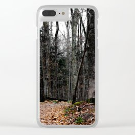 Chasing Autumn Clear iPhone Case