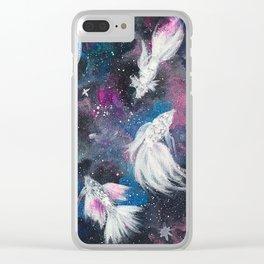 Galaxy Bettas III Clear iPhone Case