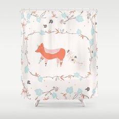 fox & grapes Shower Curtain