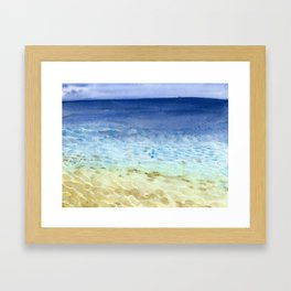 I look at the sea and I dream Framed Art Print