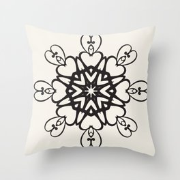 Dependence of hearts Throw Pillow