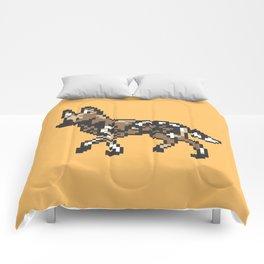 8-bit African Wild Dog Comforters