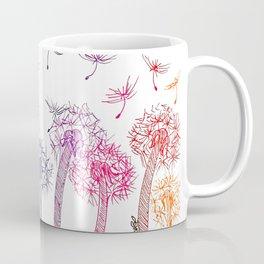 Rainbow dandelions Coffee Mug