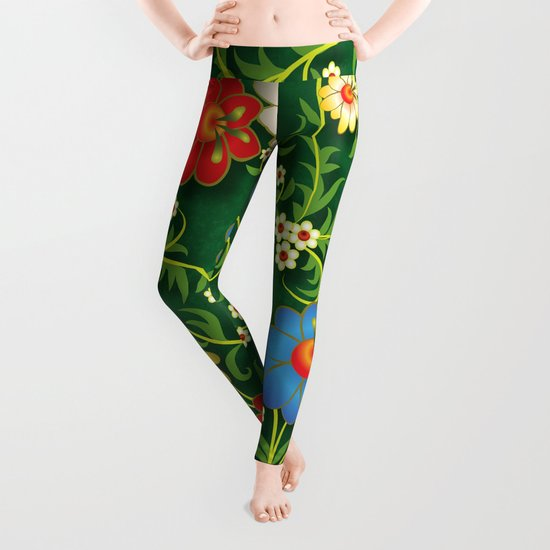 Shabby flowers #16 Leggings
