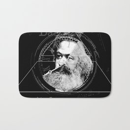 The Time of Marx Dark Bath Mat