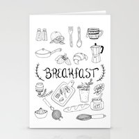 breakfast Stationery Cards featuring Breakfast by Brooke Weeber