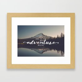 Trillium Adventure Begins - Nature Photography Framed Art Print