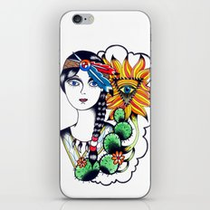 Cactus Eye Tattoo Style iPhone Skin