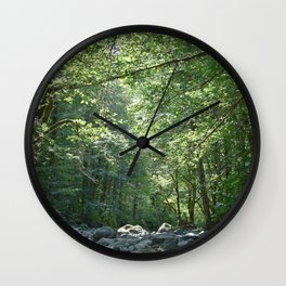 Elk Creek in Tillamook Oregon Wall Clock