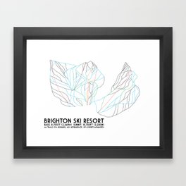 Brighton, UT - Minimalist Trail Art Framed Art Print