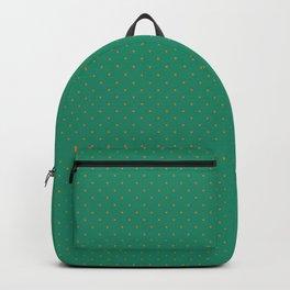 Extra Small Orange on Elf Green Polka Dots Backpack