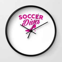 Cute Soccer Diva Cleat & Heels Wall Clock
