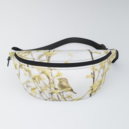 Happy Chiffchaff Welcomes Spring | Bird Photogrphy Fanny Pack