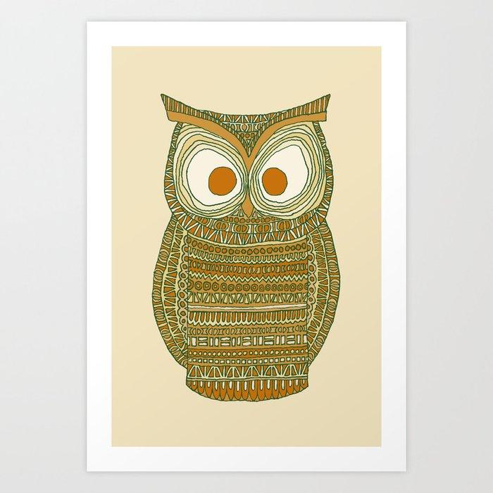 Dermot Owl Art Print