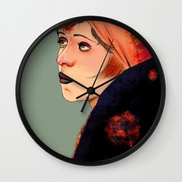Clara (trace drawing) Wall Clock